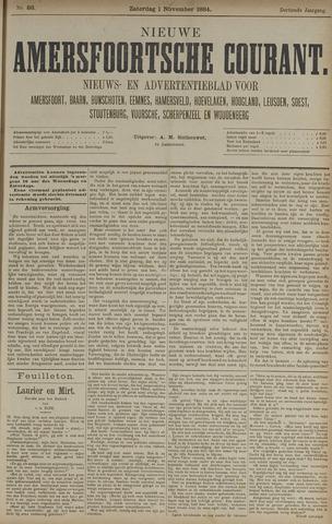 Nieuwe Amersfoortsche Courant 1884-11-01