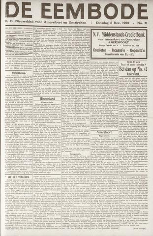 De Eembode 1922-12-05