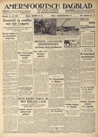 Amersfoortsch Dagblad / De Eemlander 1939-07-12
