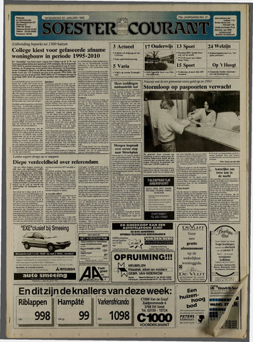 Soester Courant 1992-01-22