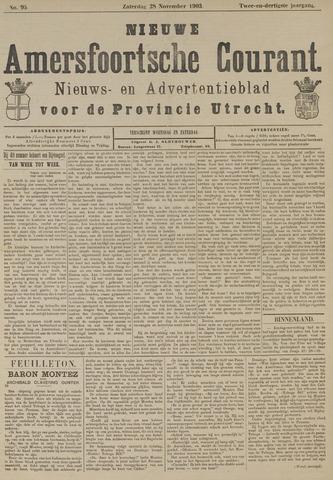 Nieuwe Amersfoortsche Courant 1903-11-28