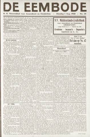 De Eembode 1922-08-01