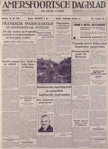 Amersfoortsch Dagblad / De Eemlander 1940-07-10