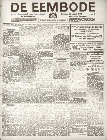 De Eembode 1926-04-27