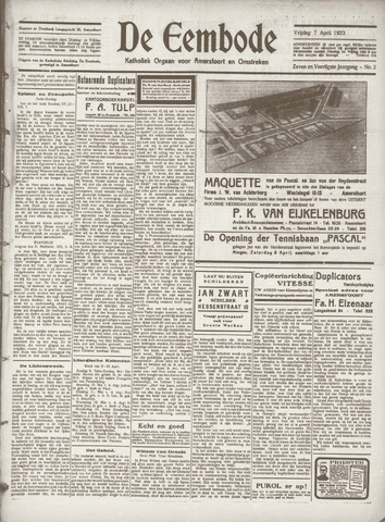 De Eembode 1933-04-07