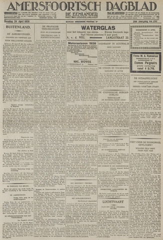 Amersfoortsch Dagblad / De Eemlander 1928-04-24