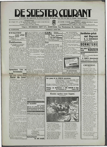 Soester Courant 1939-06-09