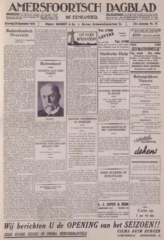 Amersfoortsch Dagblad / De Eemlander 1934-09-29