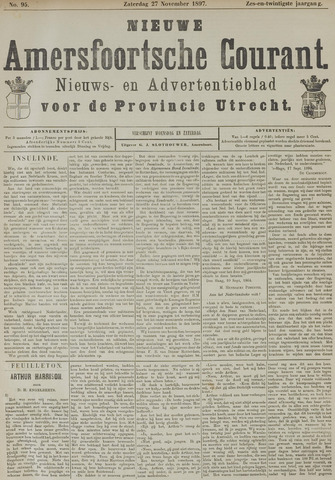 Nieuwe Amersfoortsche Courant 1897-11-27