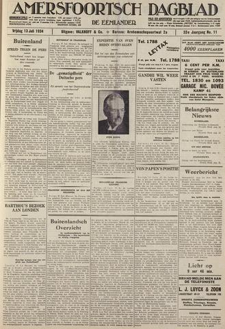 Amersfoortsch Dagblad / De Eemlander 1934-07-13