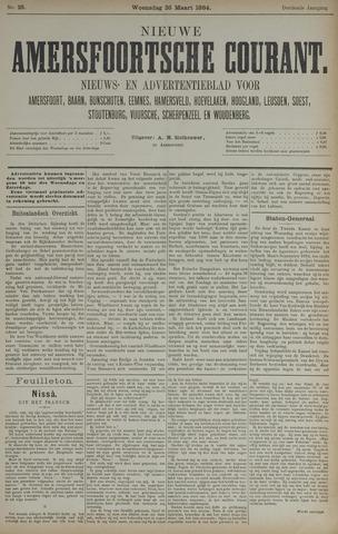 Nieuwe Amersfoortsche Courant 1884-03-26