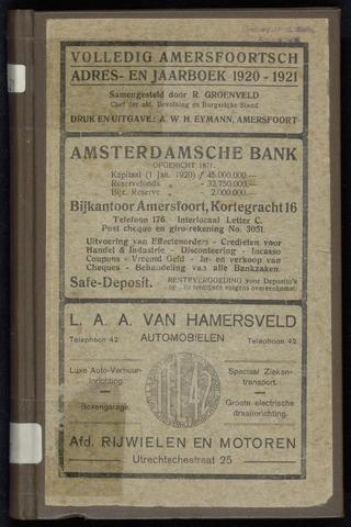 Adresboeken Amersfoort 1920