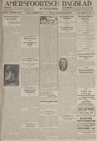 Amersfoortsch Dagblad / De Eemlander 1931-11-10