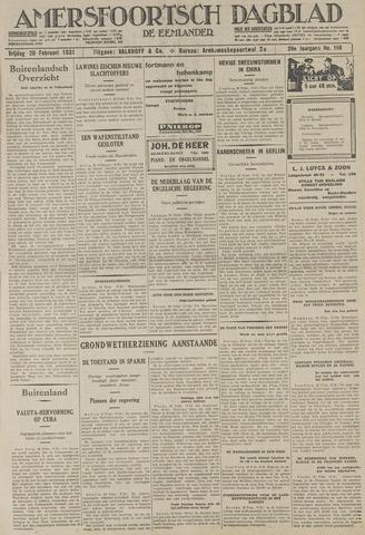 Amersfoortsch Dagblad / De Eemlander 1931-02-20