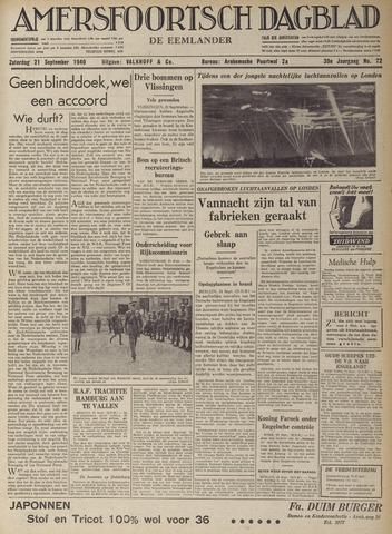 Amersfoortsch Dagblad / De Eemlander 1940-09-21