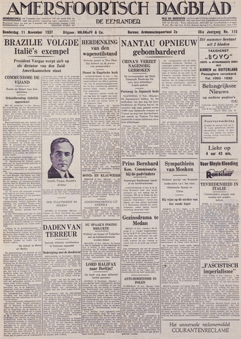 Amersfoortsch Dagblad / De Eemlander 1937-11-11