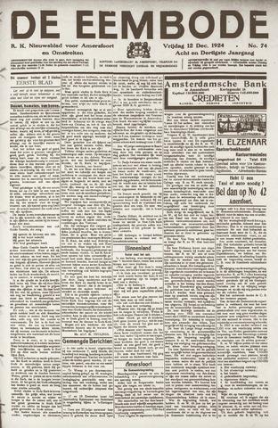De Eembode 1924-12-12