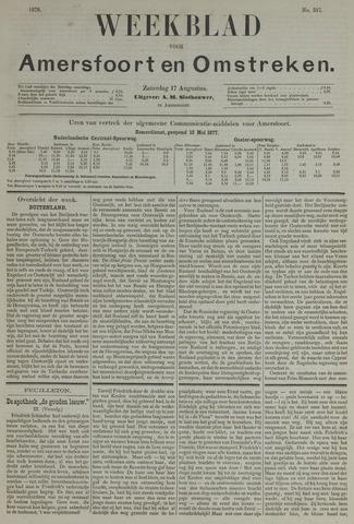 Weekblad voor Amersfoort en Omstreken 1878-08-17
