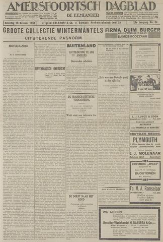 Amersfoortsch Dagblad / De Eemlander 1930-10-18