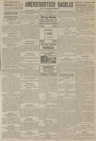 Amersfoortsch Dagblad / De Eemlander 1925-09-17