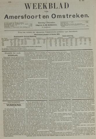 Weekblad voor Amersfoort en Omstreken 1878-12-07