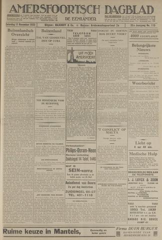 Amersfoortsch Dagblad / De Eemlander 1933-11-11