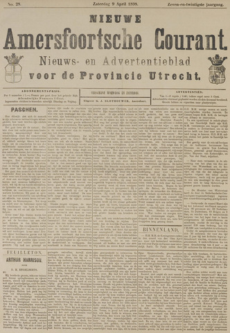 Nieuwe Amersfoortsche Courant 1898-04-09