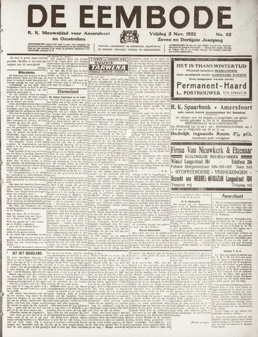 De Eembode 1923-11-02
