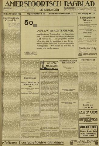 Amersfoortsch Dagblad / De Eemlander 1933-02-18