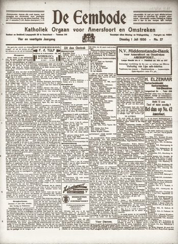 De Eembode 1930-07-01