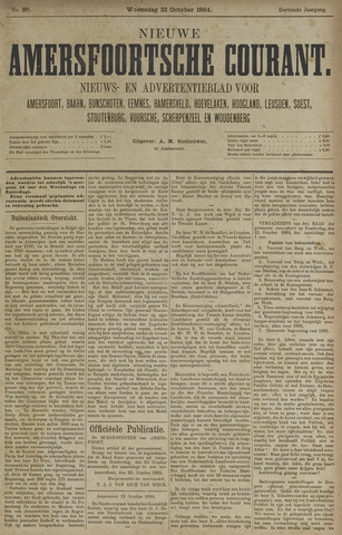 Nieuwe Amersfoortsche Courant 1884-10-22