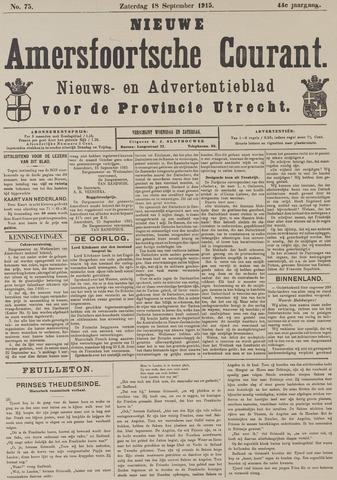 Nieuwe Amersfoortsche Courant 1915-09-18