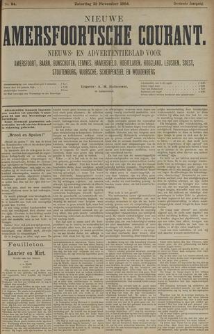 Nieuwe Amersfoortsche Courant 1884-11-22