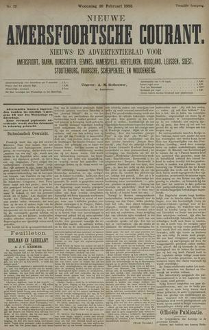 Nieuwe Amersfoortsche Courant 1883-02-28