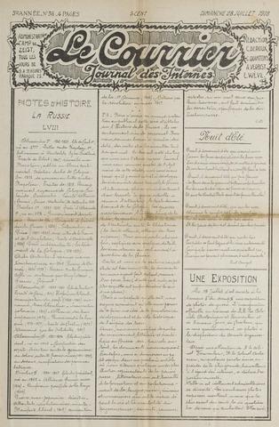 Le Courrier 1918-07-28
