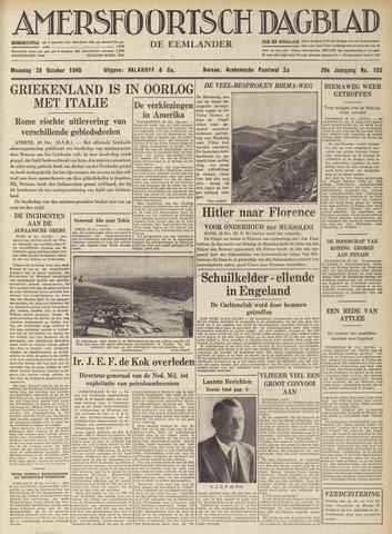 Amersfoortsch Dagblad / De Eemlander 1940-10-28