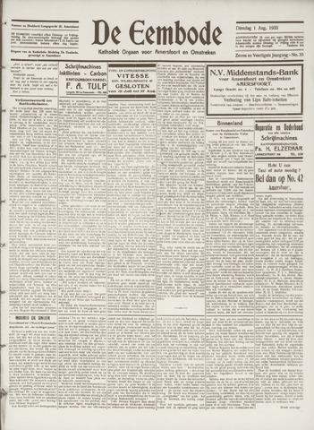 De Eembode 1933-08-01