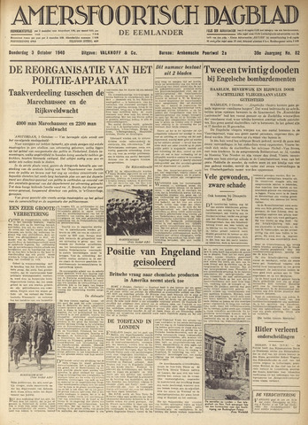 Amersfoortsch Dagblad / De Eemlander 1940-10-03