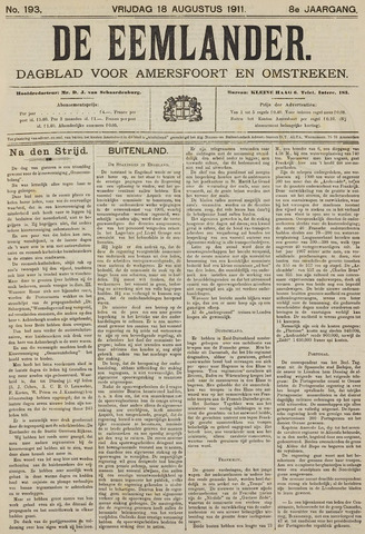 De Eemlander 1911-08-18