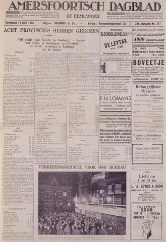 Amersfoortsch Dagblad / De Eemlander 1935-04-18