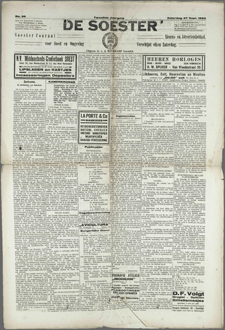 Soester Courant 1924-09-27
