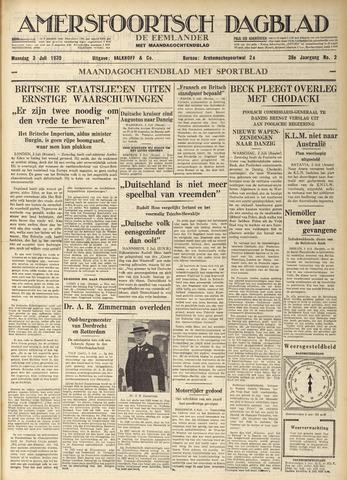 Amersfoortsch Dagblad / De Eemlander 1939-07-03