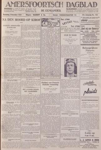 Amersfoortsch Dagblad / De Eemlander 1934-12-05