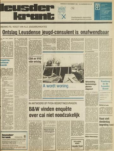 Leusder Krant 1982-11-30