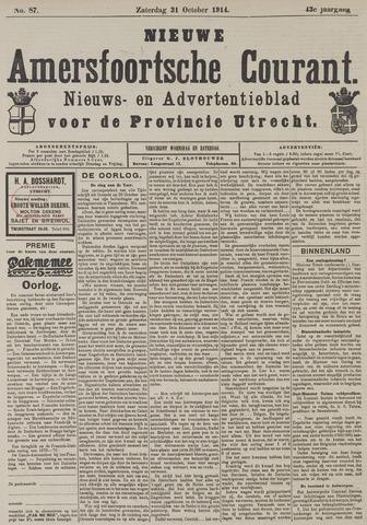 Nieuwe Amersfoortsche Courant 1914-10-31