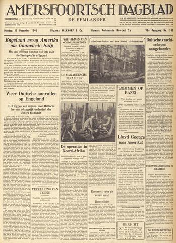 Amersfoortsch Dagblad / De Eemlander 1940-12-17