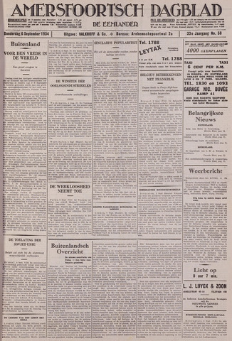 Amersfoortsch Dagblad / De Eemlander 1934-09-06