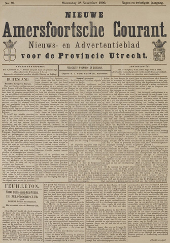 Nieuwe Amersfoortsche Courant 1900-11-28
