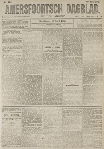 Amersfoortsch Dagblad / De Eemlander 1913-04-10