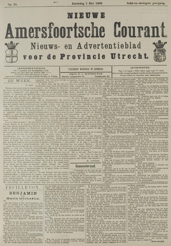 Nieuwe Amersfoortsche Courant 1909-05-01